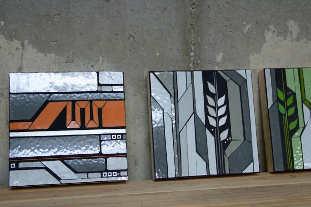 "urban vine and digital prairie | prototypes 10"" x 10"" c Heather Hancock 2014"