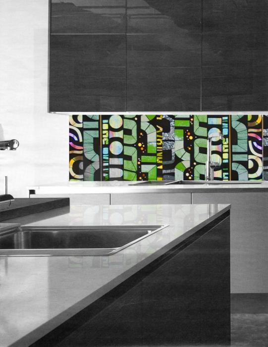 rendering | Scan full backsplash | contemporary kitchen