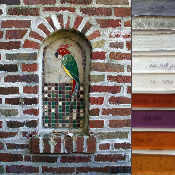 WIP | brick wall niche before | color palette