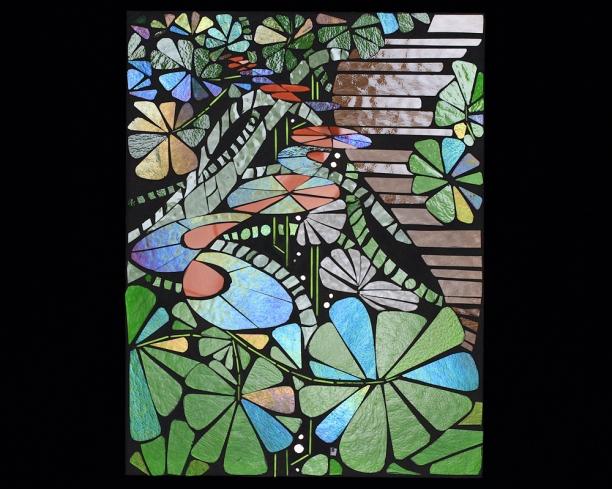"Proust project: Flourish | 12"" x 16"" | glass c Heather Hancock c 2014"