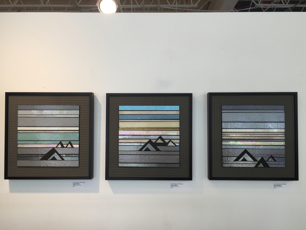 "Urban palettes: Lake Michigan | 14""x14"" 
