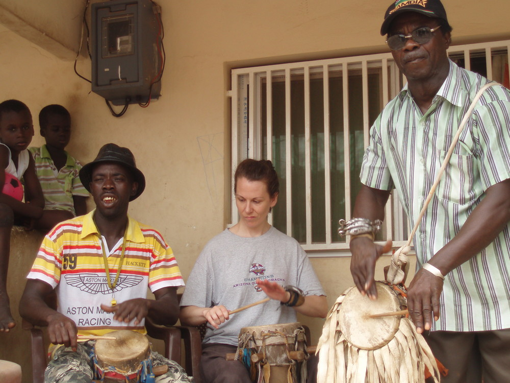With Ibrahim Bol & partner, The Gambia 2010
