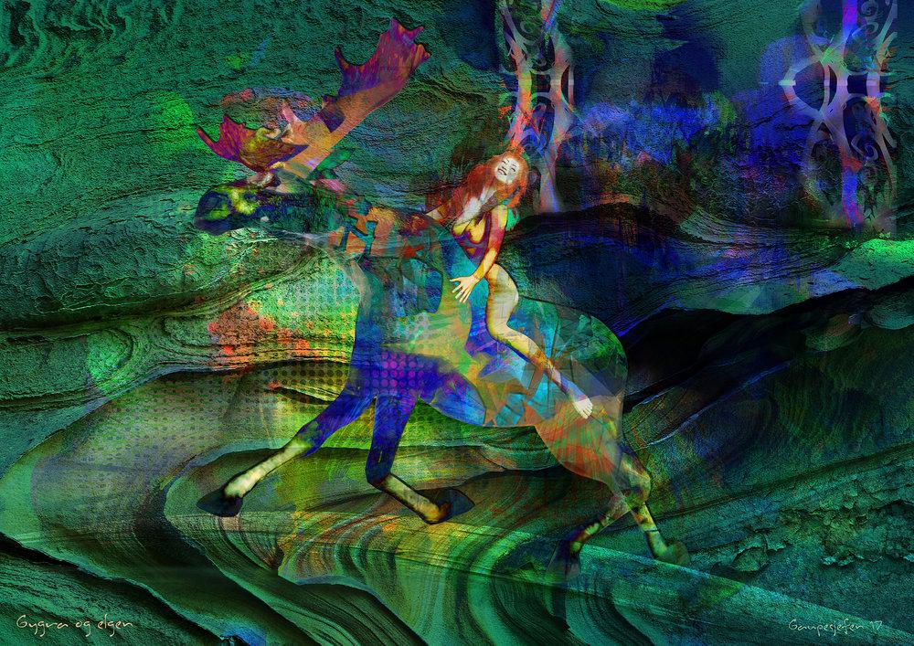 Print:  Gygra og elgen