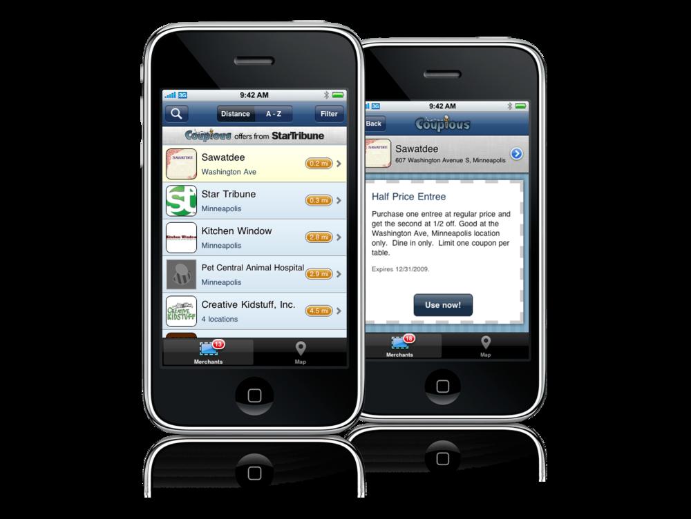 Contemporary app design, circa 2010.