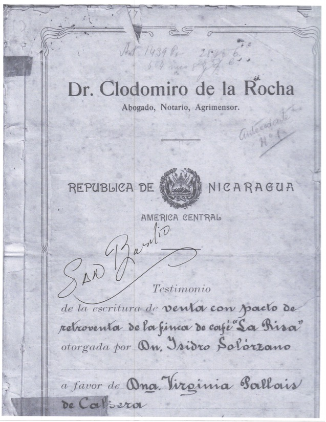 Original purchase agreement from 1923