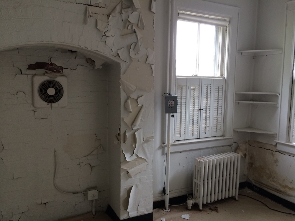 Site IV, in the abandoned kitchen of Building 406B, Colonels Row