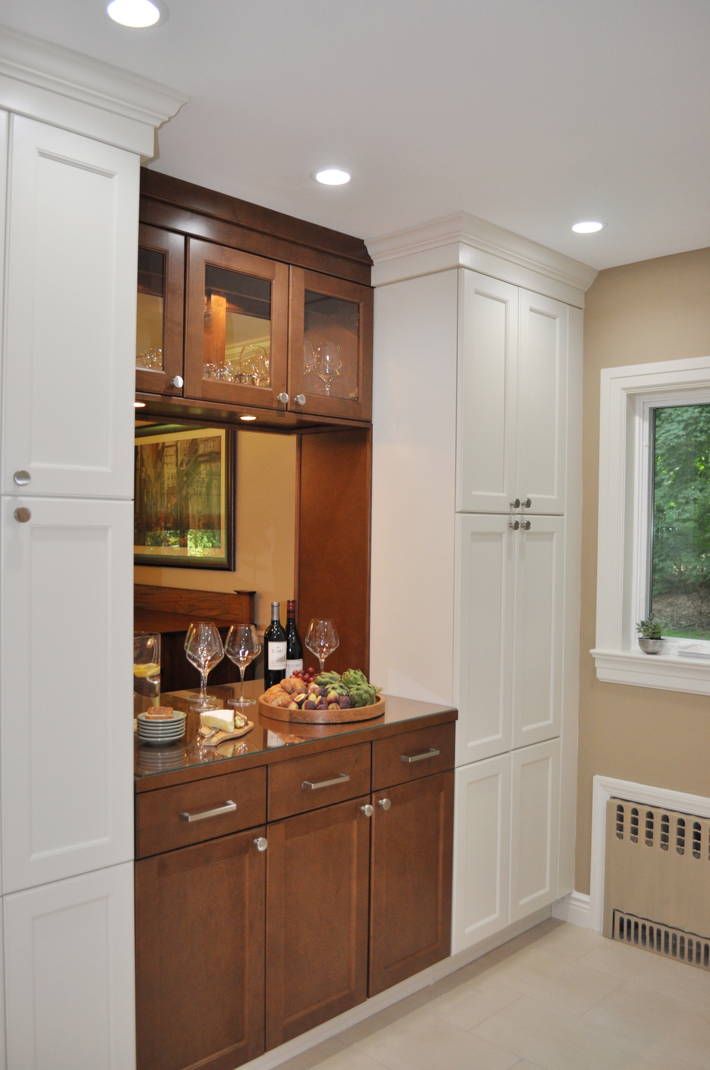 KAM DESIGN LLC_Kitchen Remodel_Passthrough_Pantry Cabinet_White Kitchen Cabinets_Wood Stained Kitchen Cabinets_Buffet_Westchester County NY Home.jpg