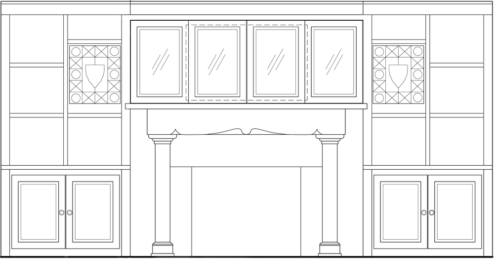 LIVING ROOM: CUSTOM MILLWORK ELEVATION