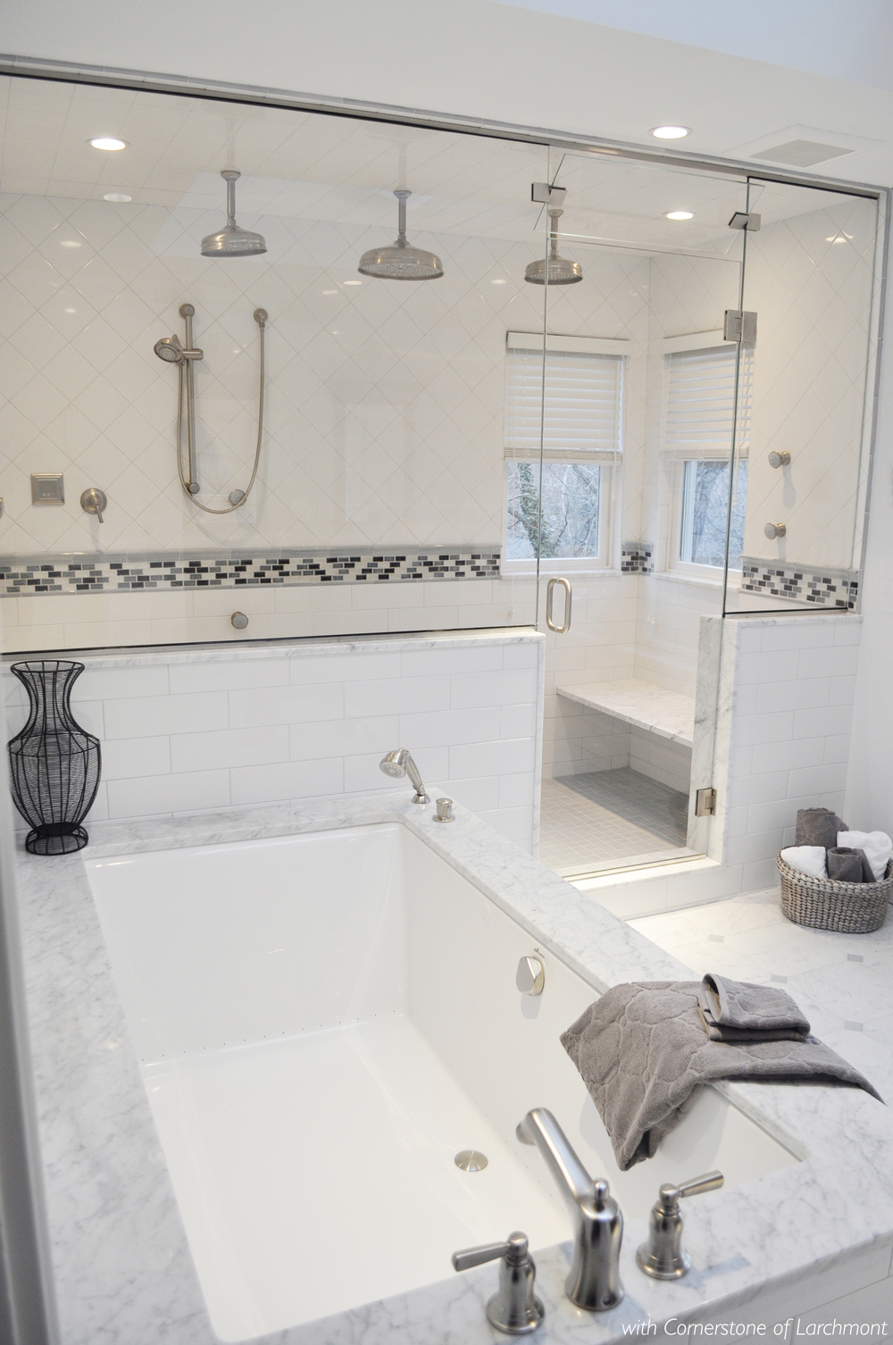 Kim Annick Mitchell_Interior Designer_Larchmont Master Bathroom_Marble Bathroom_White Tile_Tub_Steam Shower.jpg
