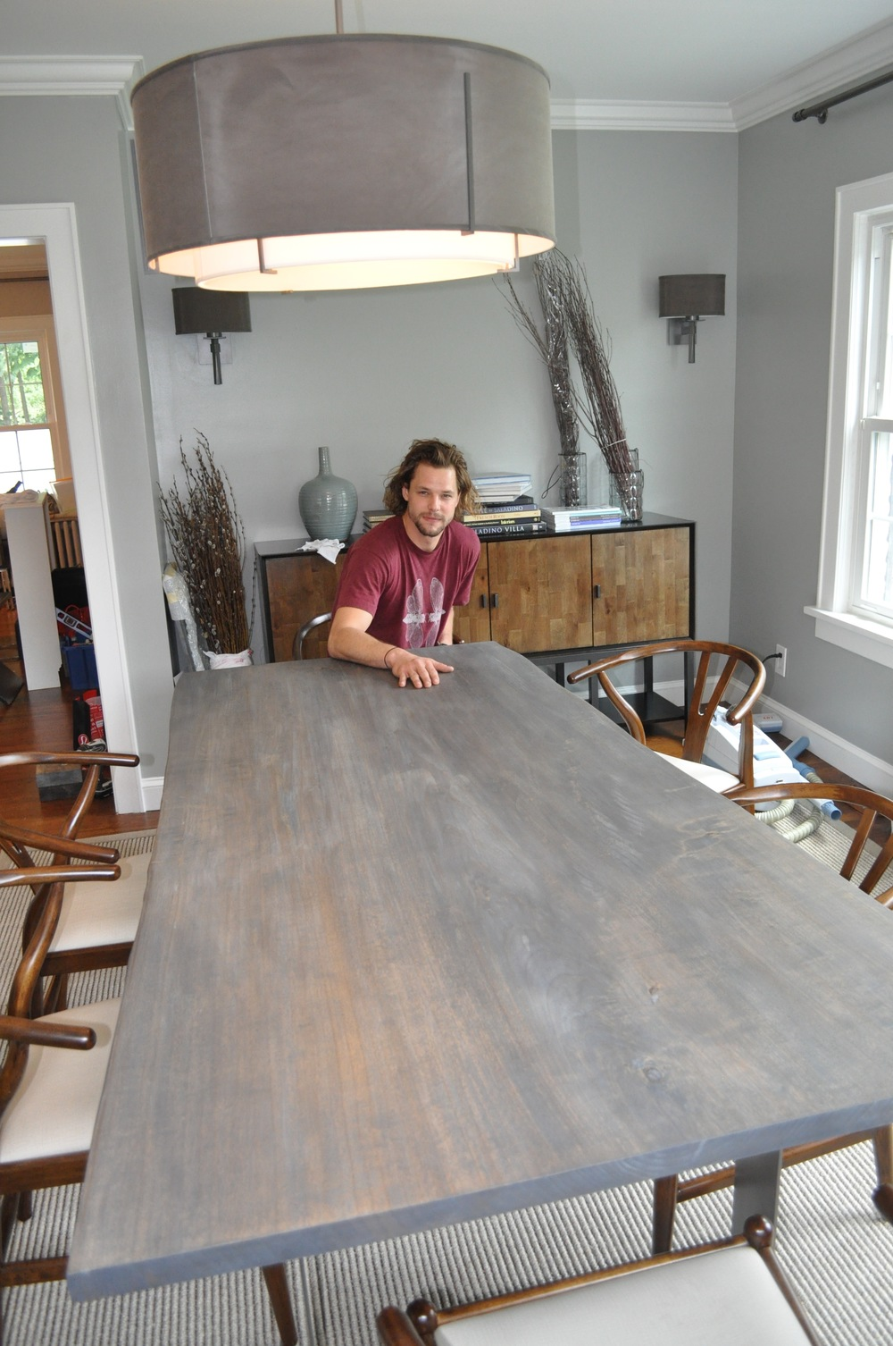 Mats Christéen and his exquisitely crafted custom-designed dining table