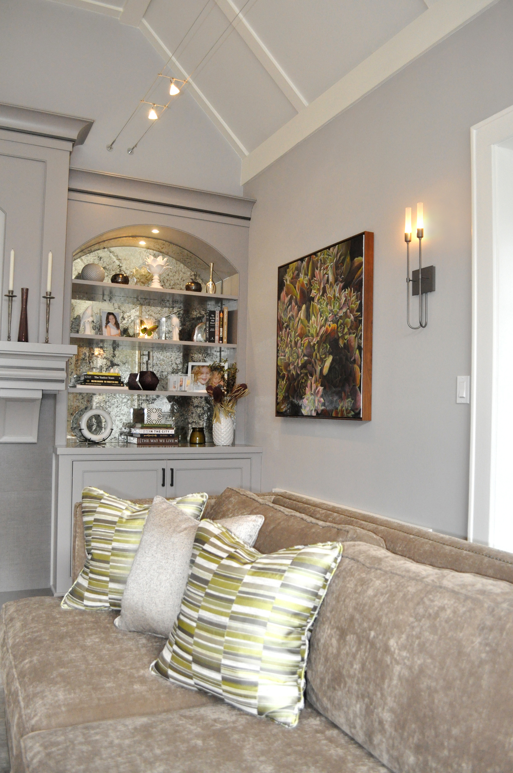 KAM DESIGN_Interior Designer Kim A Mitchell_Larchmont NY_Grey_Chartreuse Green_Plum_Living Room_Custom Built-in_Antique Mirror_Shelving_Relaxed Elegance_Gray Custom Millwork_2016.jpg