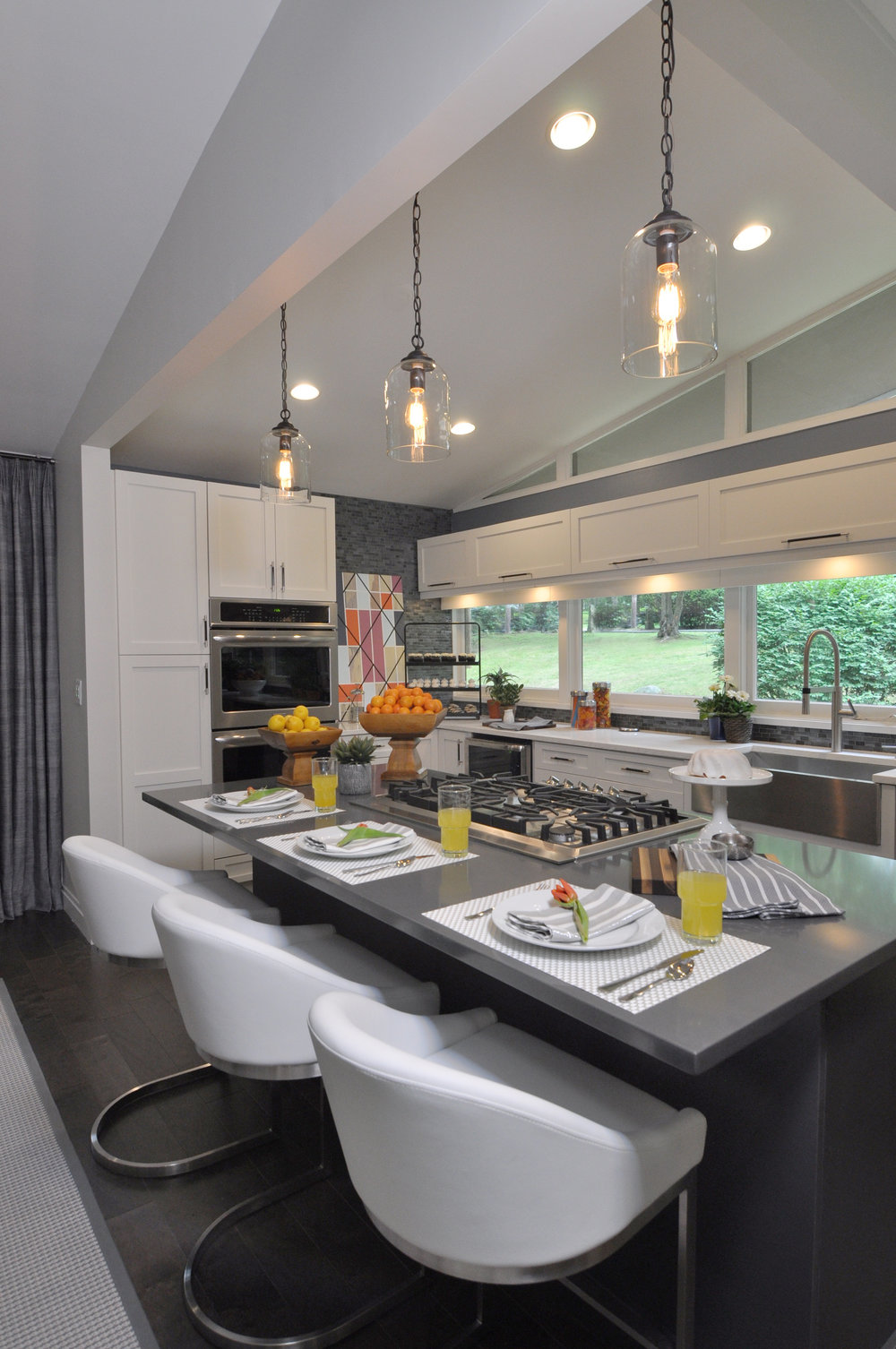 Kim A Mitchell_Design Lead_HGTV_The Property Brothers_Season6_Episode 9_Kitchen_Modern Kitchen_Blue Glass Mosaic Backsplash_Gray Pentel Quartz Island_Pental Quartz Countertop_White Cabinetry_2017.jpg