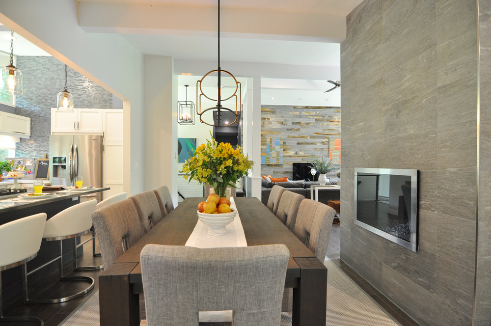 Kim A Mitchell_Design Lead_The Property Brothers_Season 6_Episode 9_Modern Dining Room_View to Living Room_Scandecor Rug_Blue Gray Dining Room_2017.jpg