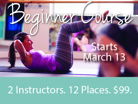 Starts Monday 13 March for four weeks at 6.45pm.  Beginners receive a bonus $30 discount off our new client offer after completing our beginner course.