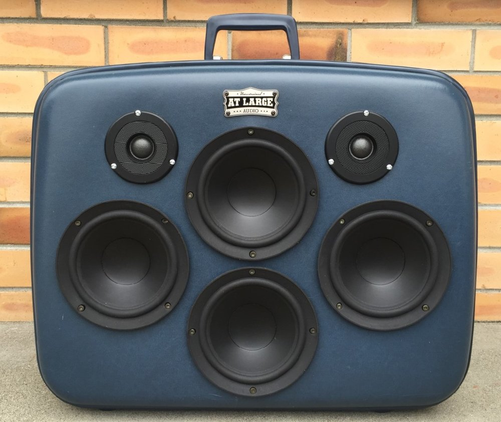 At Large Audio Portable Bluetooth Speaker Suitcase