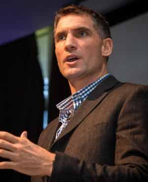 Kevin Biggar presenting