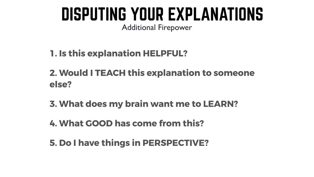 Disputing your explanations