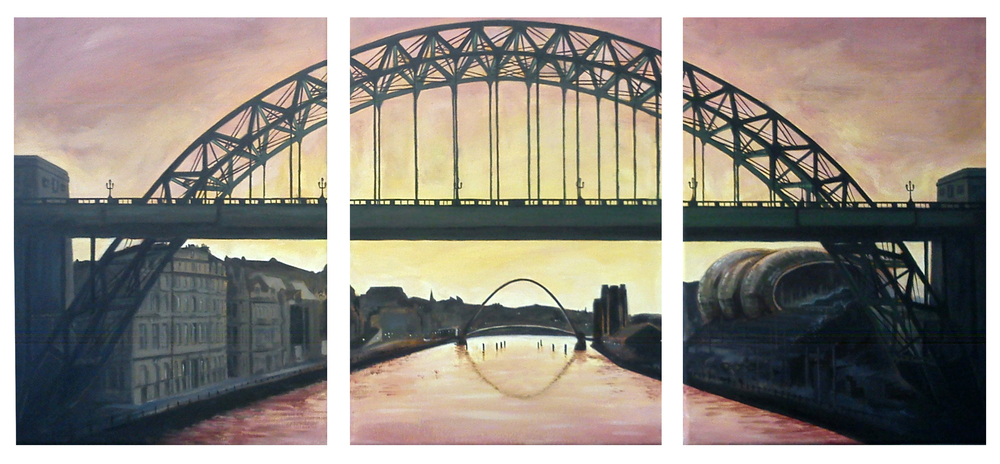 Tyne Bridge at Sunrise