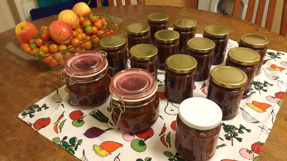 October 2016 - Green tomato & date chutney