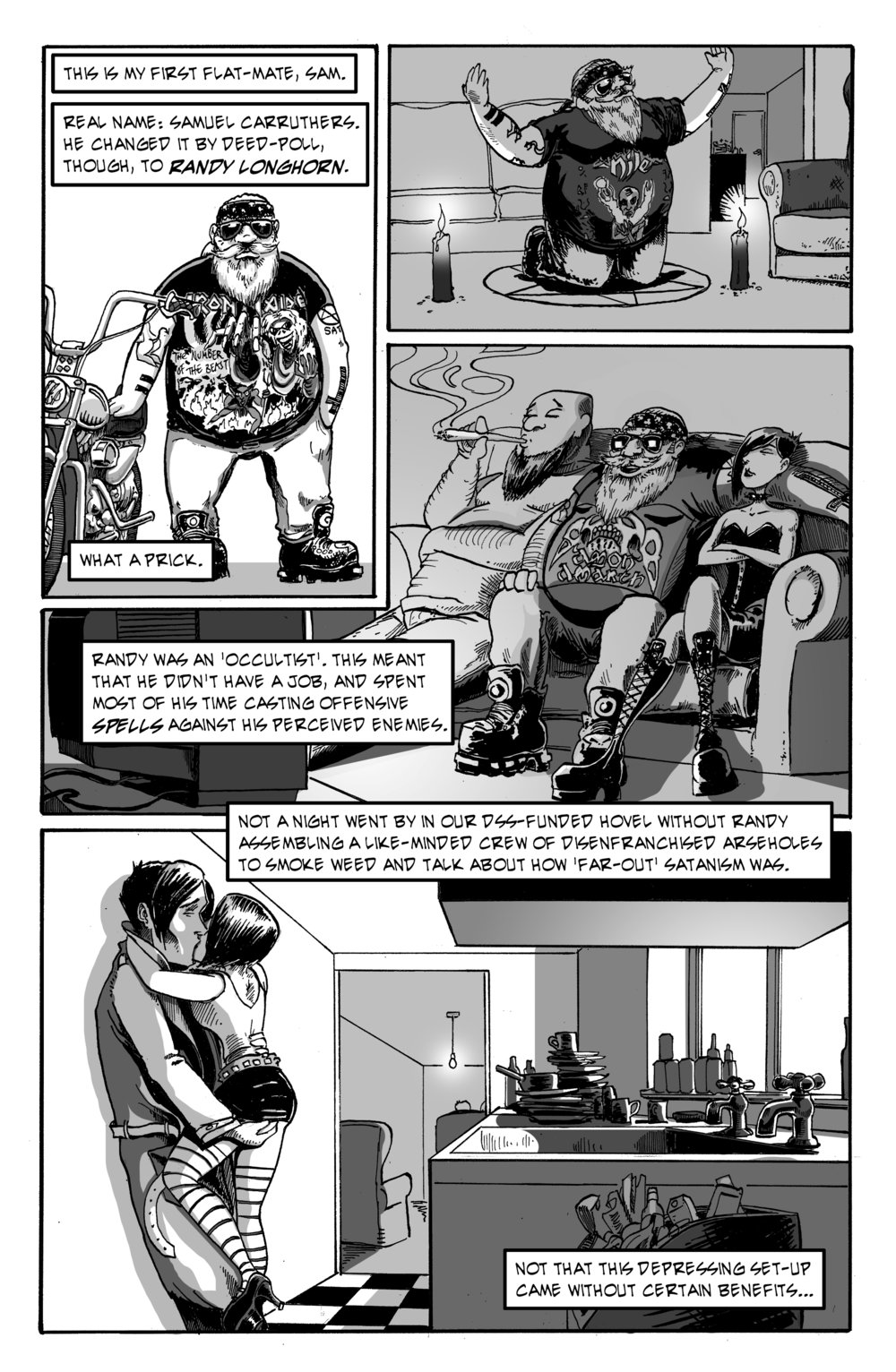 Down to the Well, page 2, inks and letters