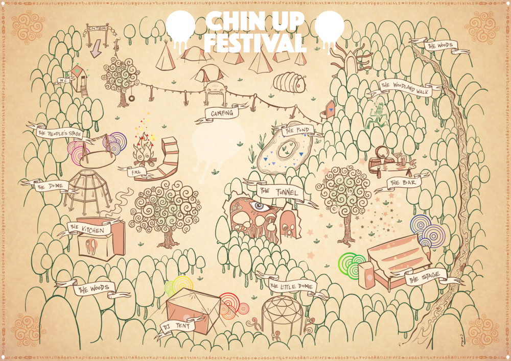 Chin Up Festival 2018 Map