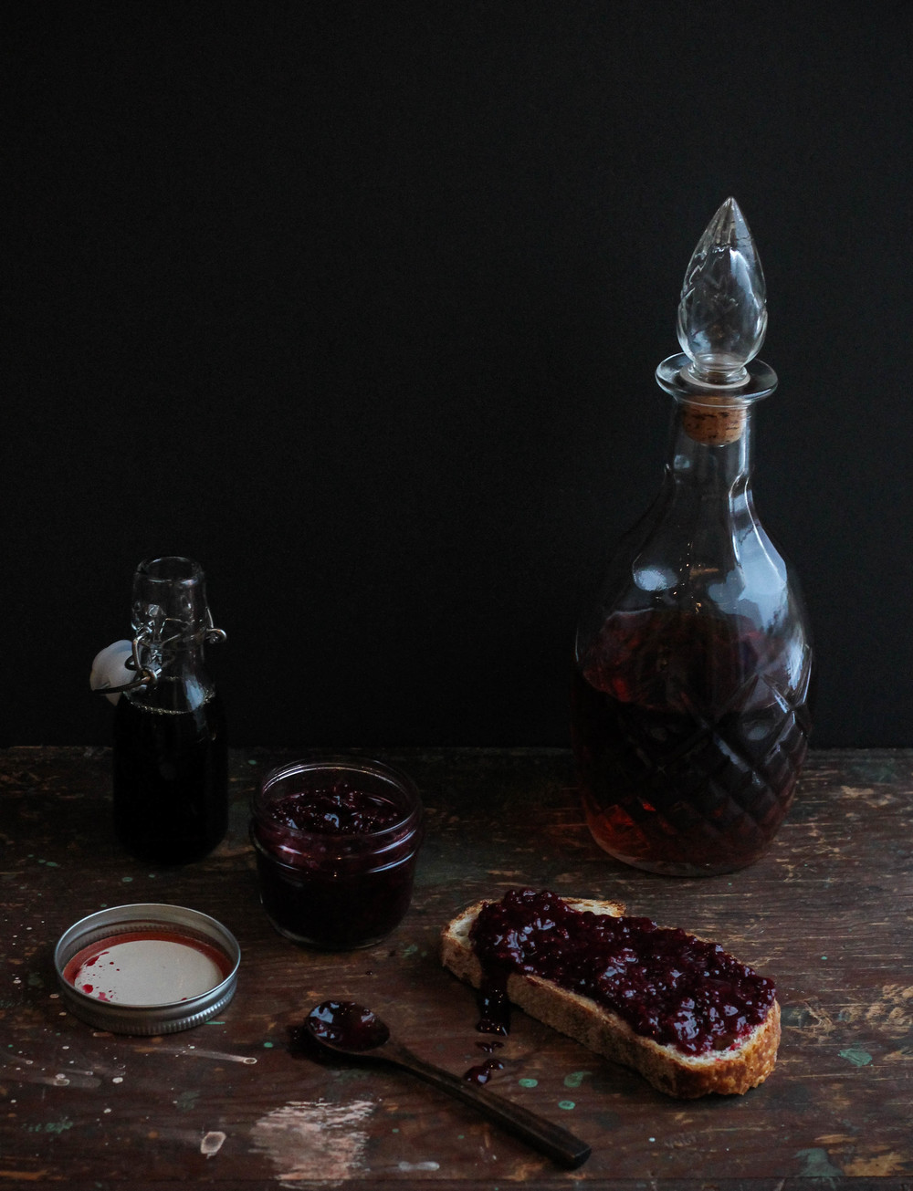Blackberry Maple Bourbon Jam || Cream + Honey
