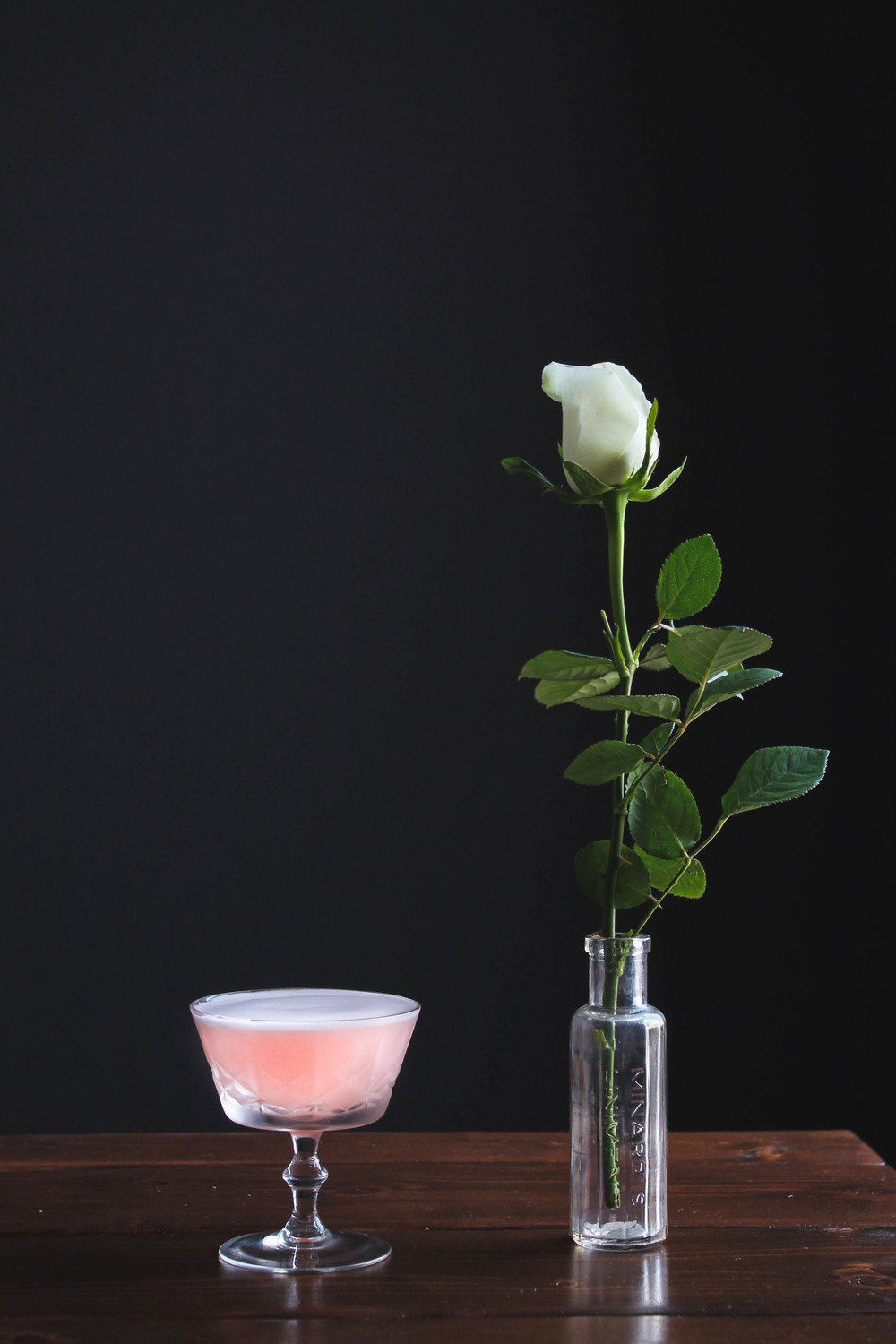 Rose + Rhubarb Cocktail: The Ballet Slipper || Cream + Honey