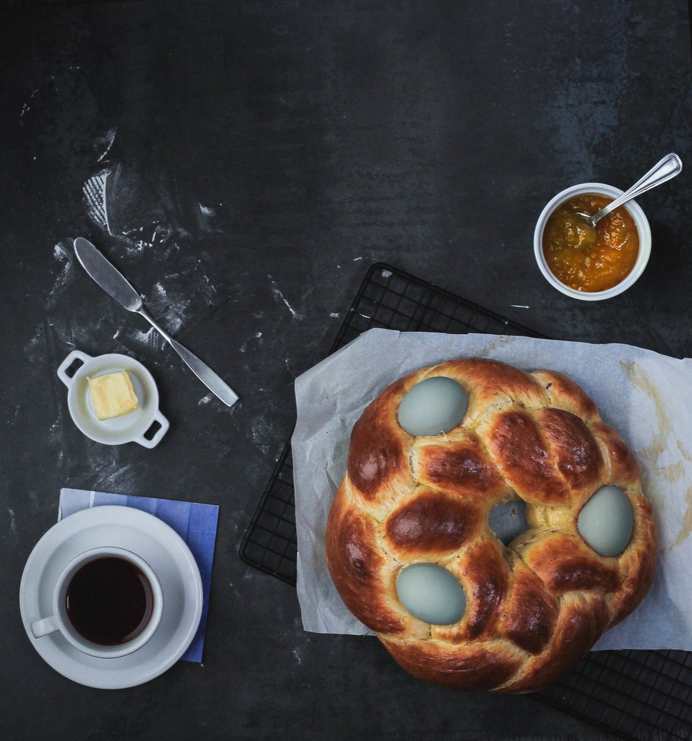 Cardamom + Blood Orange Tsoureki: Greek Easter Bread || Cream + Honey