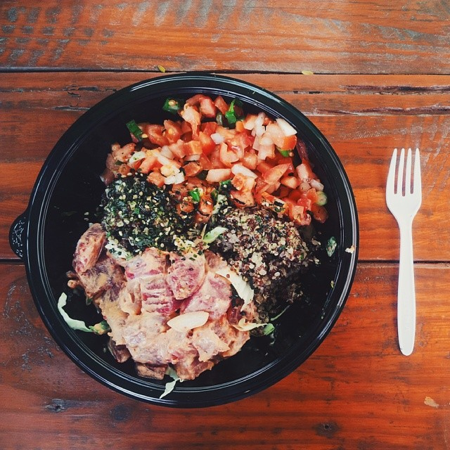 "You eat poké bowls for dinner and question why you haven't been eating poké your whole life. Memo to self: "" correct this immediately ""."