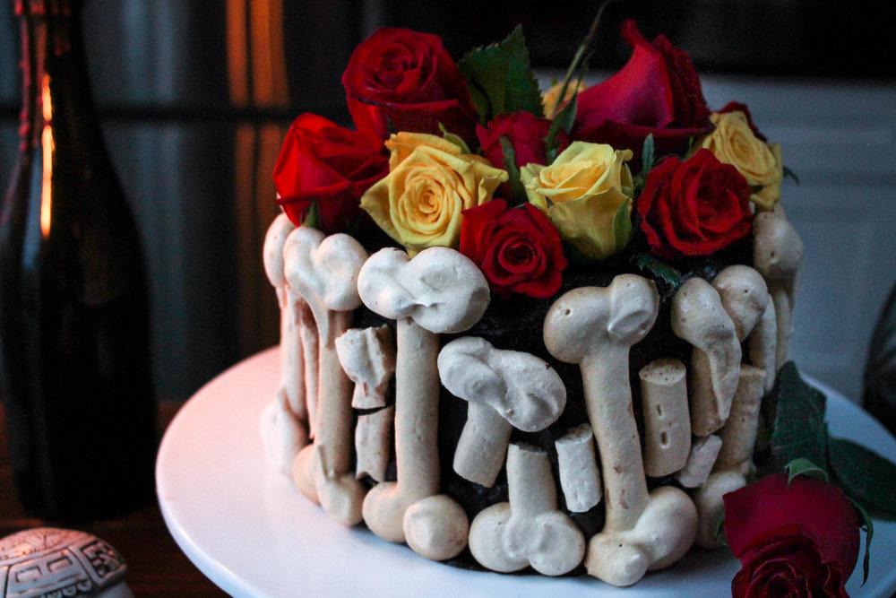 CHOCOLATE + SALTED DULCE DE LECHE GRAVEYARD CAKE || Cream + Honey