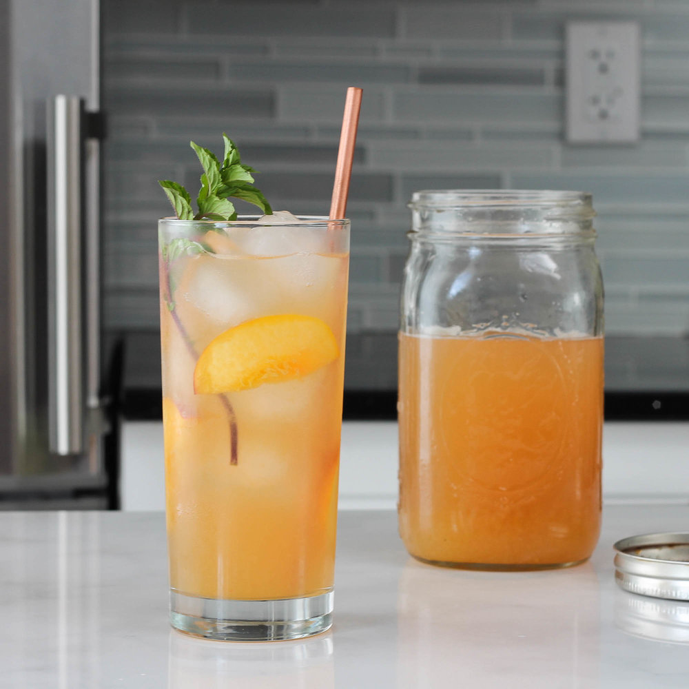 PEACH HONEY GINGER ICED TEA