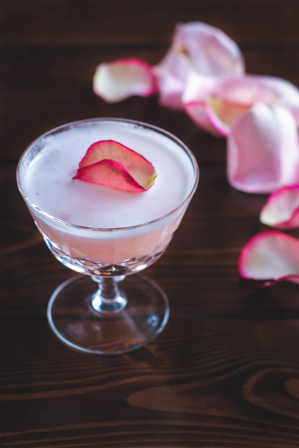 THE BALLET SLIPPER: GIN, RHUBARB + ROSE COCKTAIL
