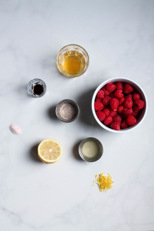 Raspberry Chia Seed Jam || Easy and delicious raspberry vanilla jam recipe with no refined sugar! || www.creamandhoney.ca
