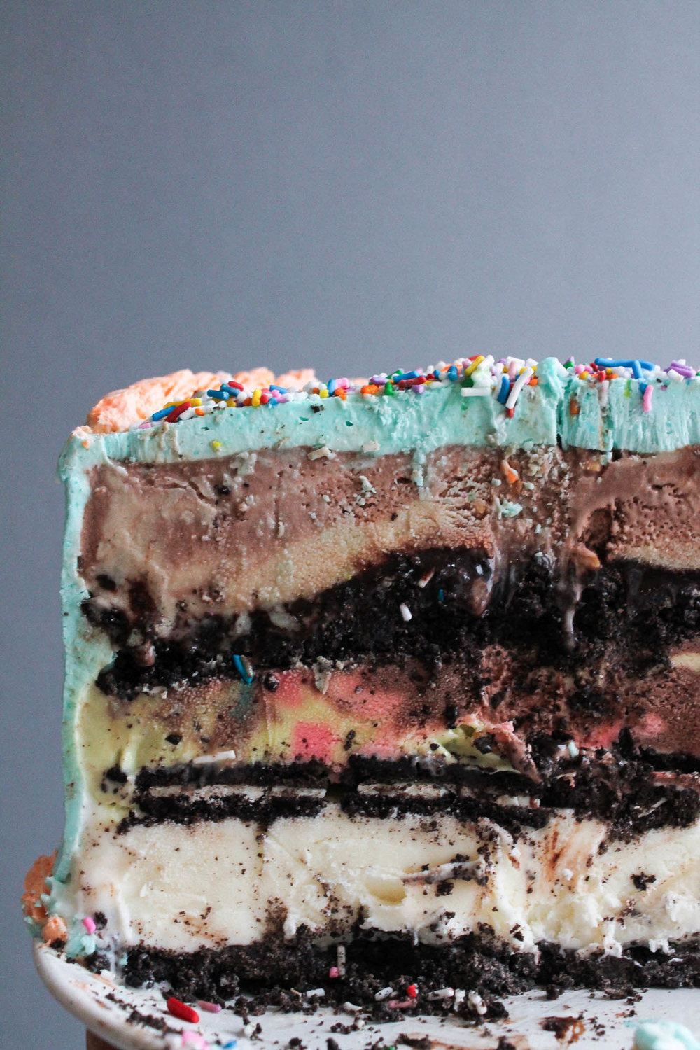 3 Layer Ice Cream Cake