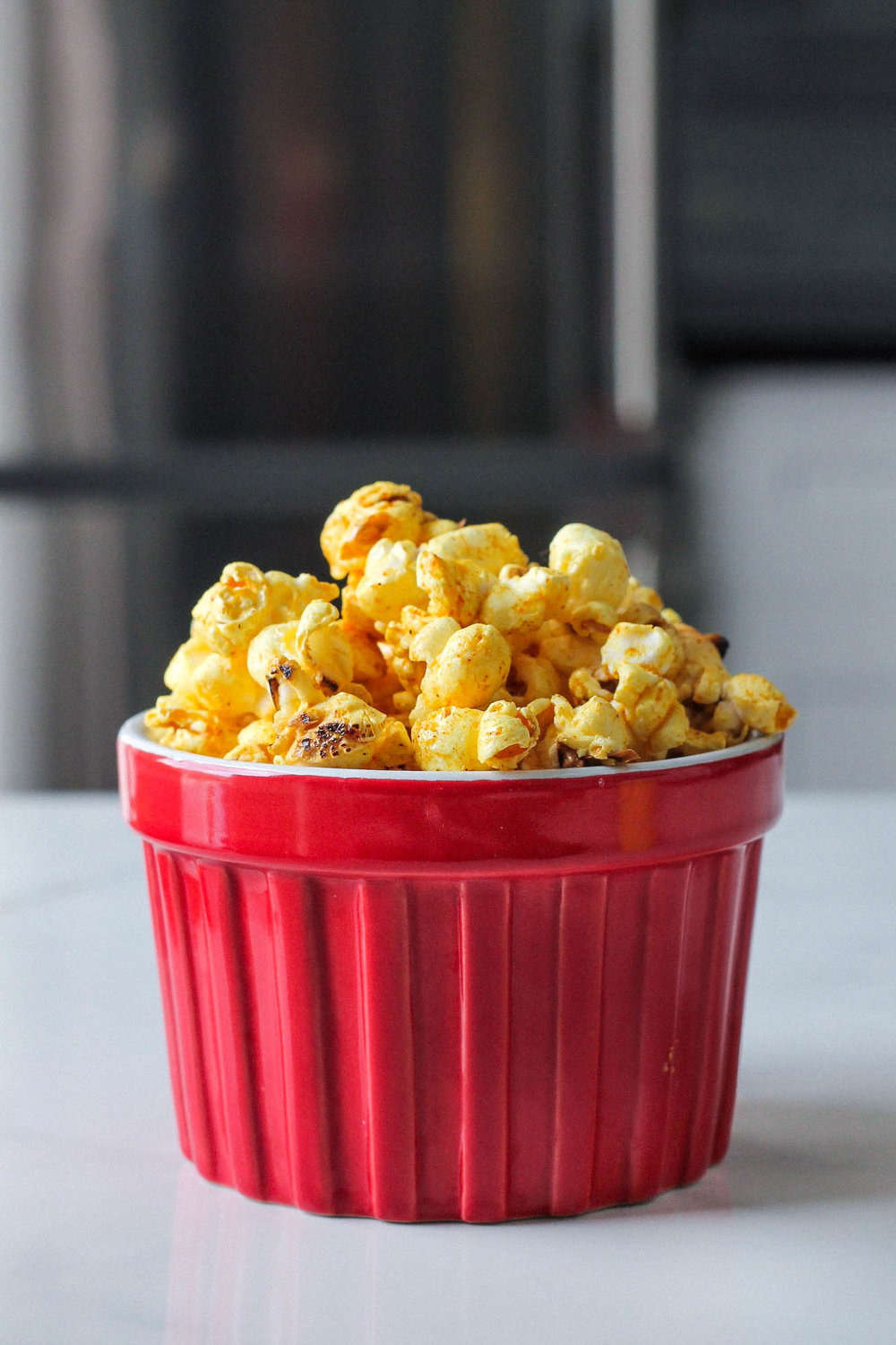Ras El Hanout + Salted Maple Popcorn || Popcorn Three Ways (Vegan) || Healthy + delicious recipes for 3 popcorn flavours without butter– classic, mexican spiced lime, and ras el hanout with salted maple. All plant based, dairy free, gluten free and easy to make! || www.creamandhoney.ca