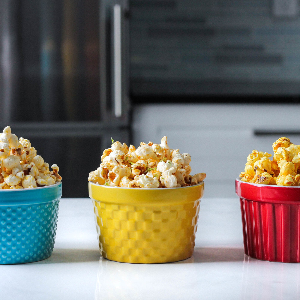 POPCORN THREE WAYS (VEGAN)
