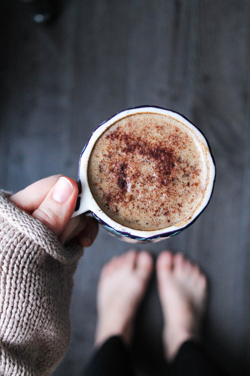 """Chicory Almond Milk Latte 