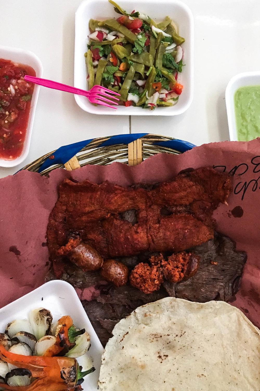 Carne asadas at Mercado 20 de Noviembre