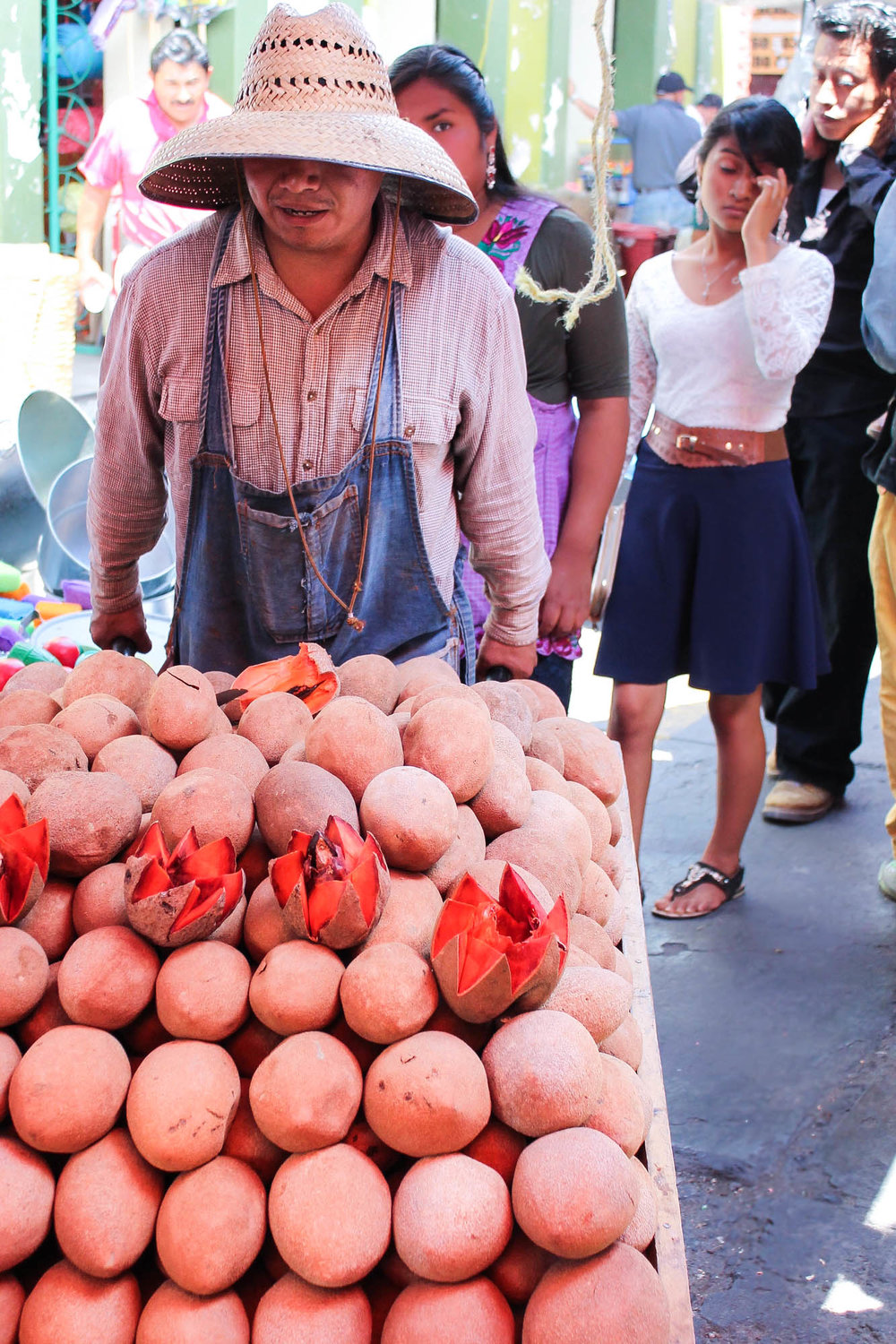 Mamey fruit at the Tlacolula market
