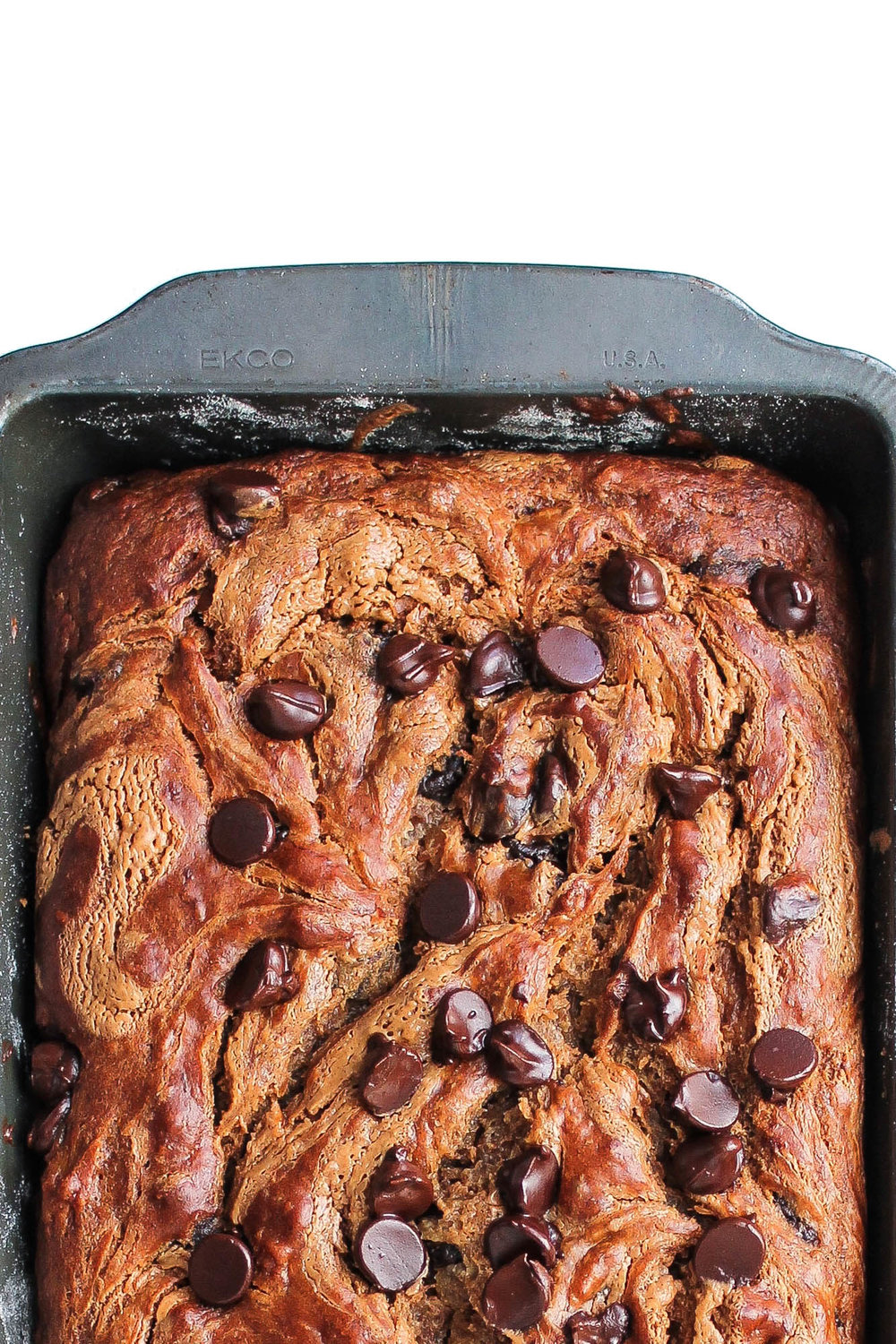 Chocolate Chip Almond Butter Banana Bread from Half Baked Harvest || Stuff + Things || creamandhoney.ca