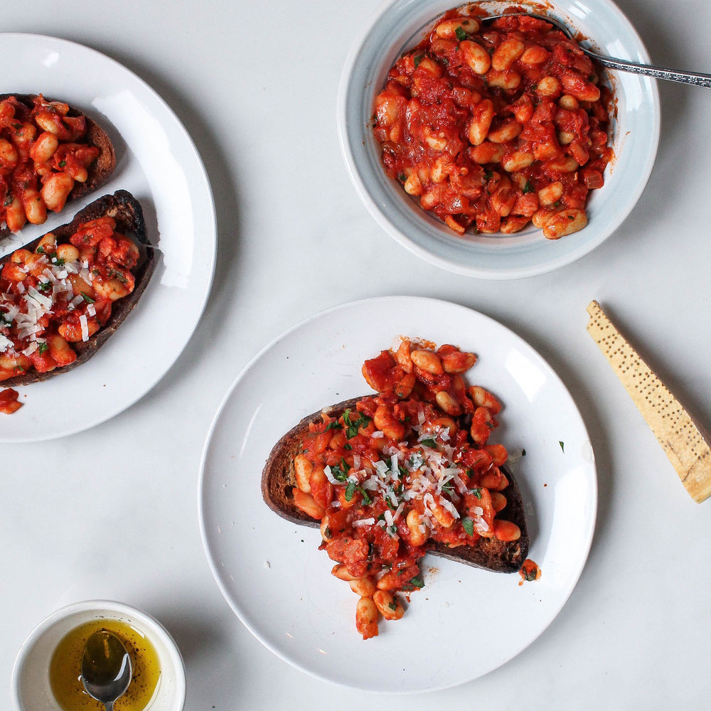 TUSCAN BEANS + TOAST