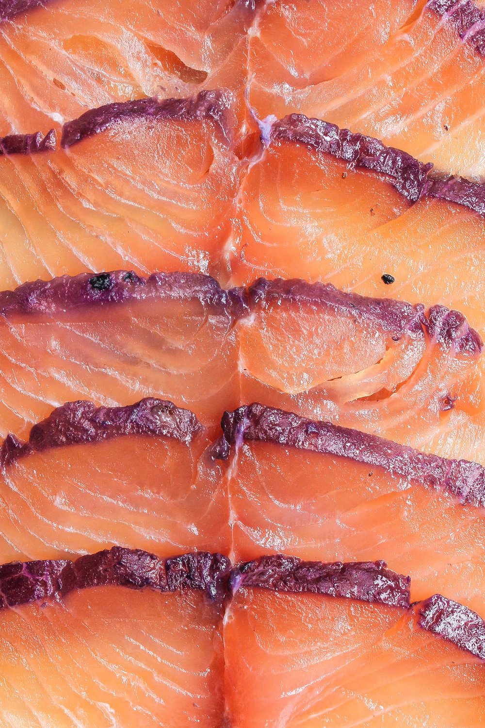 Blueberry Tarragon Gravlax || Easy curing recipe for salmon that is delicious and a rich shade of purple. Gravlax (lox or cured salmon) is perfect with bagels, rye bread, cream cheese, fresh vegetables, crackers, herbs, pickled things and capers! || creamandhoney.ca