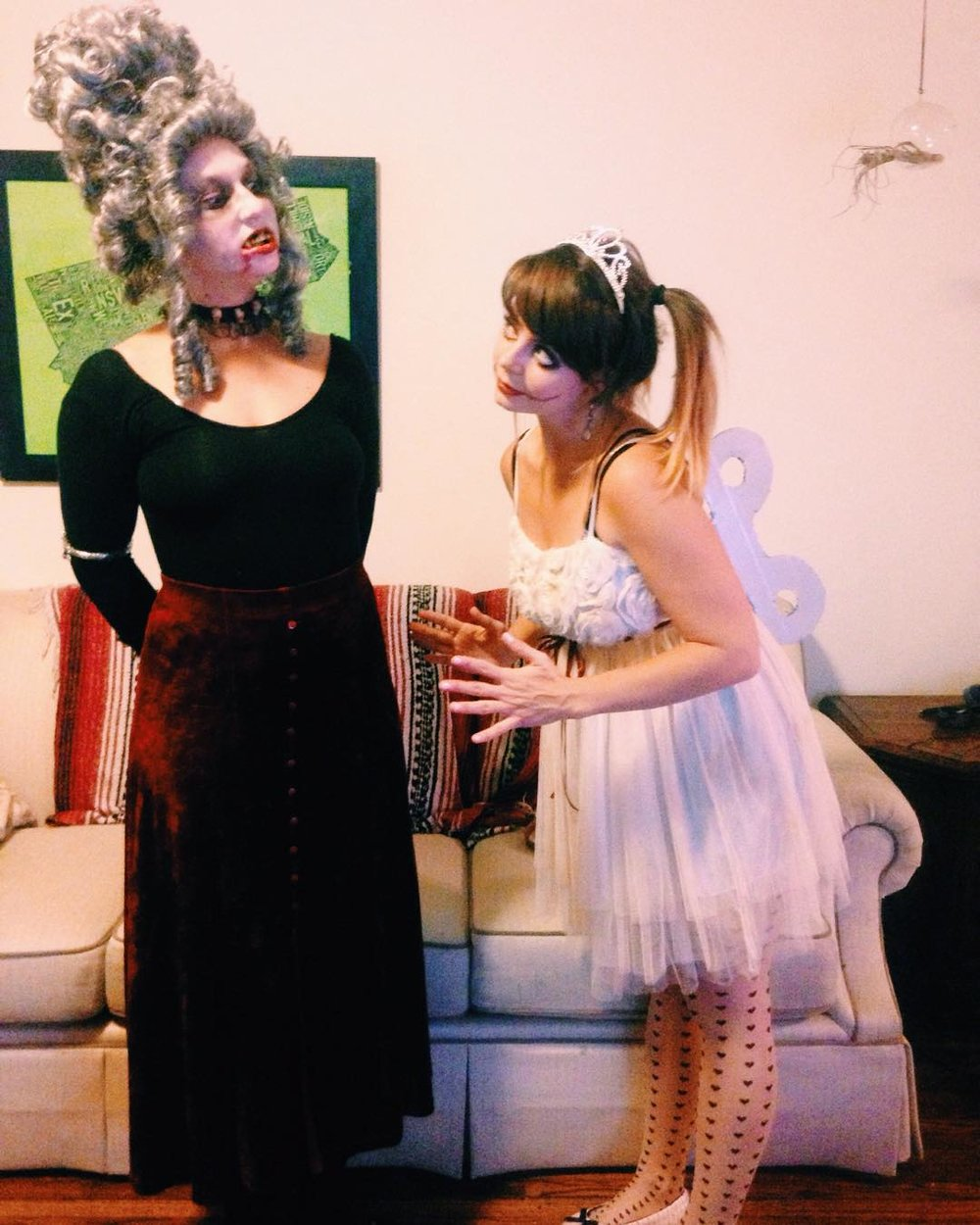 Vampiress (my bf Alex) + Wind Up Doll (me)
