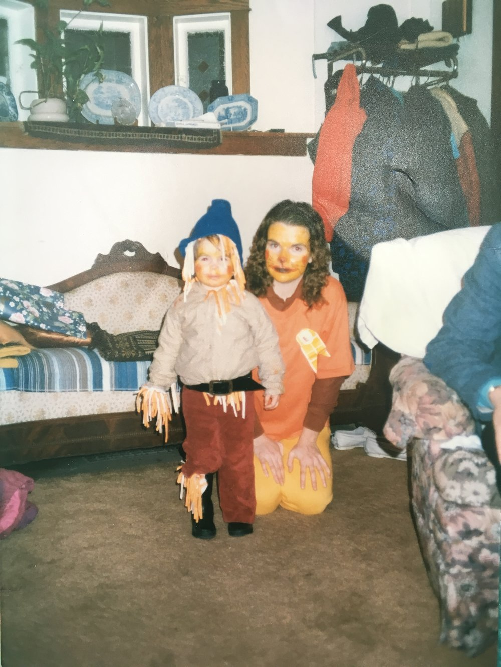Wizard of Oz – The Scarecrow (me) + The Lion (mum)