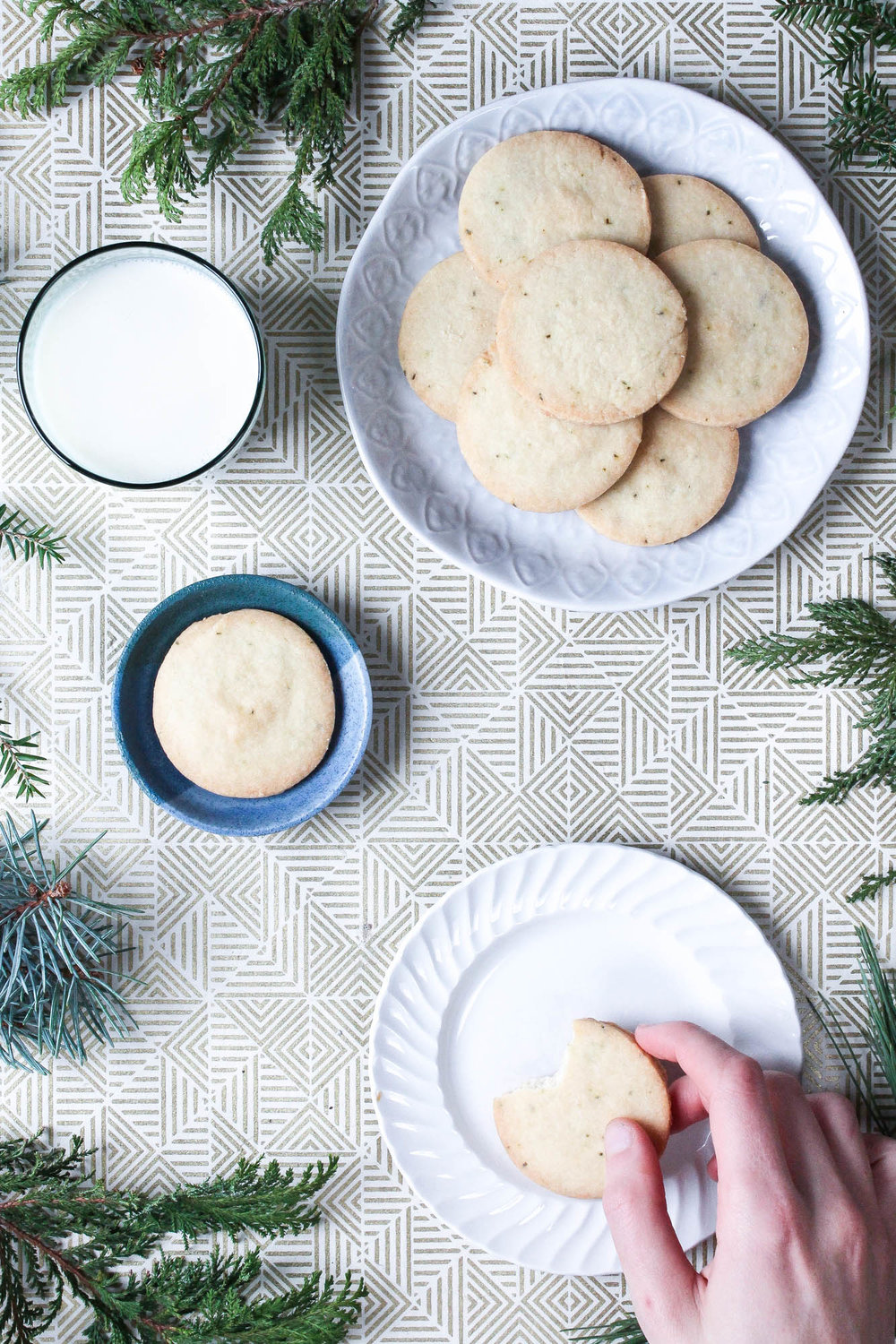 Pine Shortbread Cookies — Cream + Honey