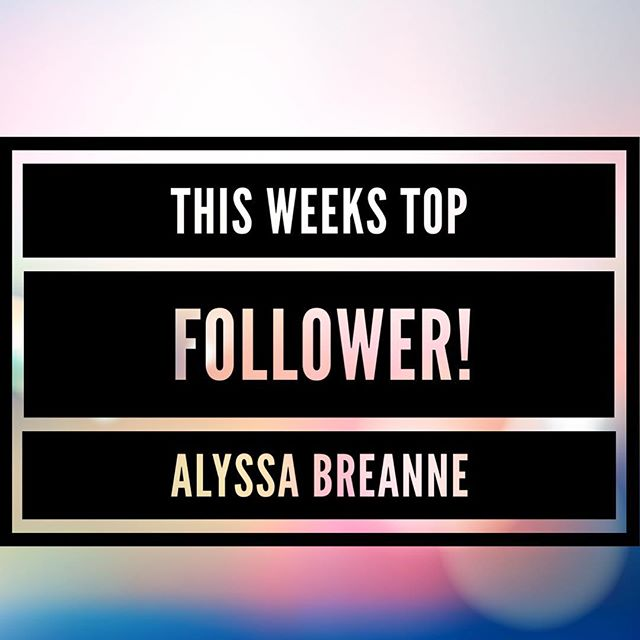 This weeks top follower is @alyssabreanne_12 with top activity on all social networks combined minus Snapchat. This weeks runner up get her pick of a Kylie cosmetics gloss and is @vwalls7613 with over 200 snaps and lots of activity over all social networks collectively. Next most Active was @voidxgrayson & @georgina_may_angus good luck on the next top follower' . Shout out to @glayvelynx got top activity although not competing in top follower this week. Love you all! XO