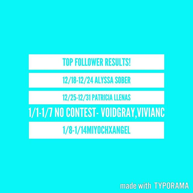 Omg! Here are the winners from the most active followers on @alyssagalarza 's social media networks! As announced in previous updates post, there was no contest running 1/1-1/7. 12/18-12/24 winner is @alyssabreanne_12 with most edits and activity #Glayvelyn was 2nd place with edits and best snaps but no runner up prize given that week. 12/25-12/31 winner @pattyfatt alyssagfan20- 1/8-1/14 winner @miyochxangel Your page and bitmoji s are life! Congratz to you all! I pick lipmatte color but you can still dm your preference,Please dm your mailing info for Friday shipments 1/20/17🎁📦 @aggiveaway_assistant