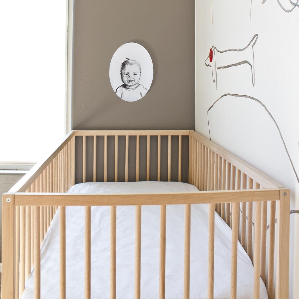 custom baby portrait / minimalist nursery