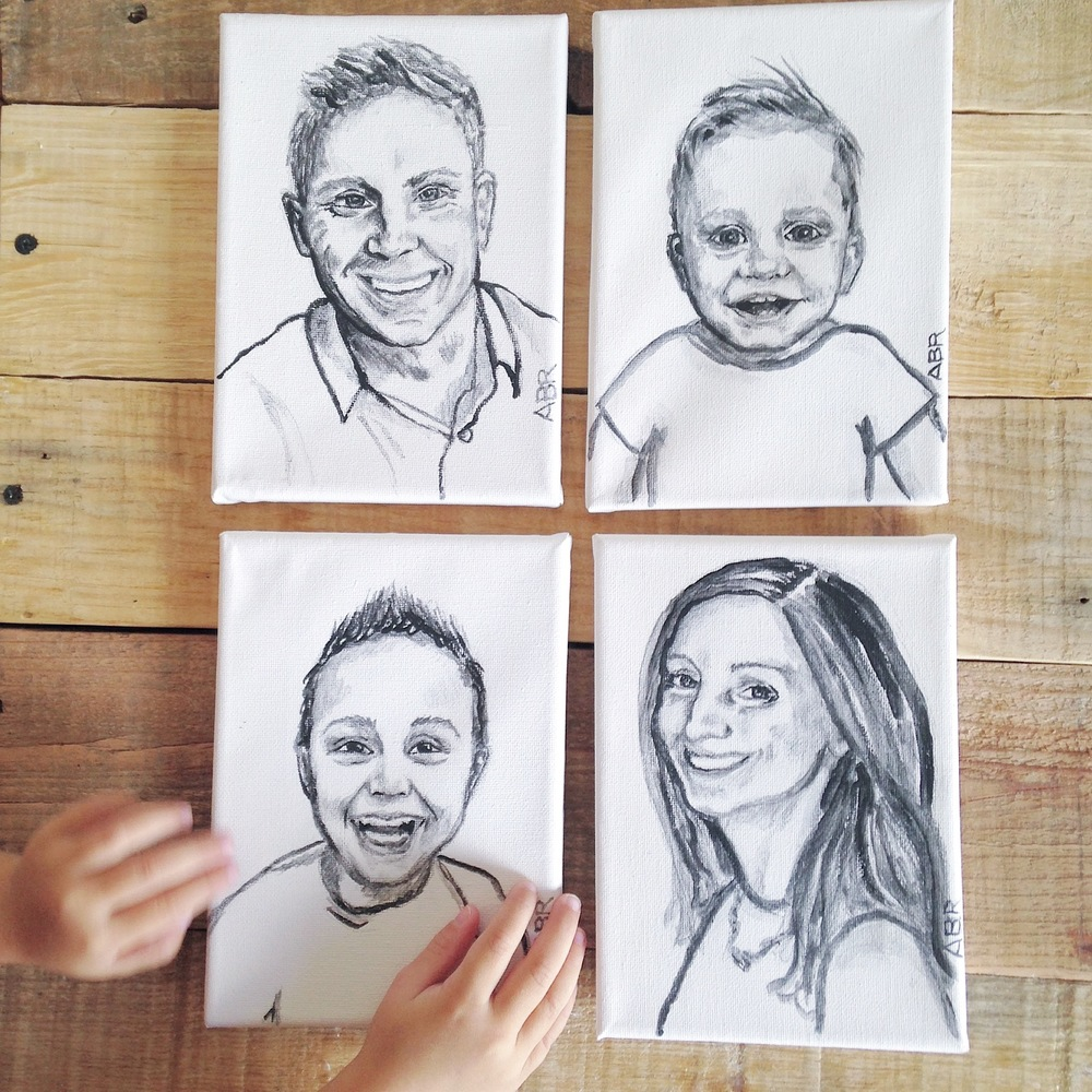 custom painted family portraits
