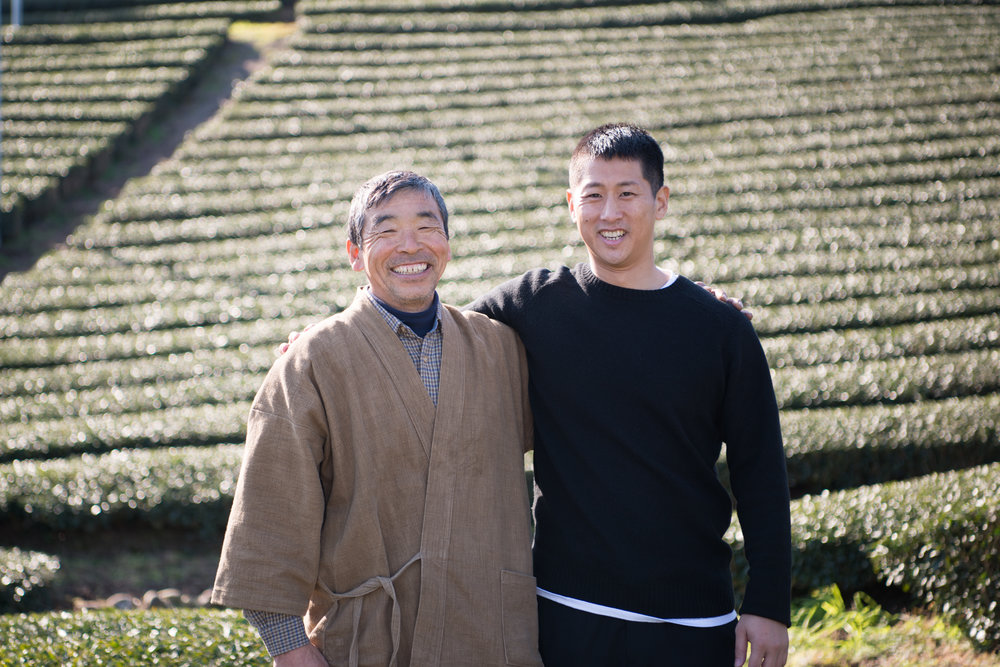 Suil and his farmer Yoshimitsu on the Nodoka farm